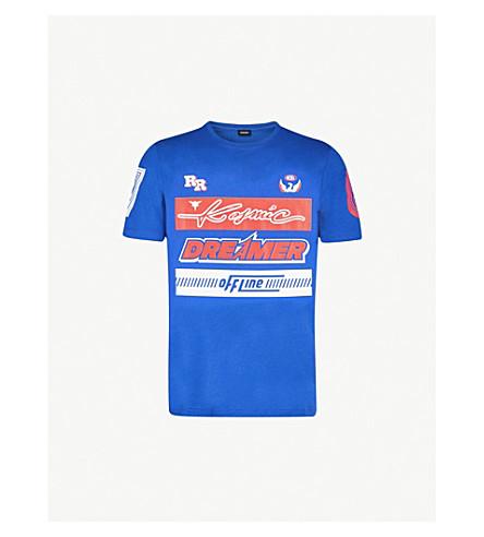 DIESEL Tjustsd cotton-jersey T-shirt (Surf+the+web