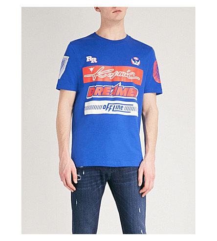 DIESEL Tjustsd cotton-jersey T-shirt (Surf+the+web