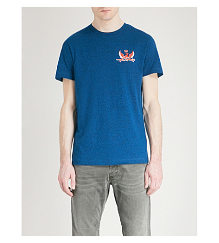 DIESEL T-diego-sp printed cotton-jersey T-shirt (Imperial+blue