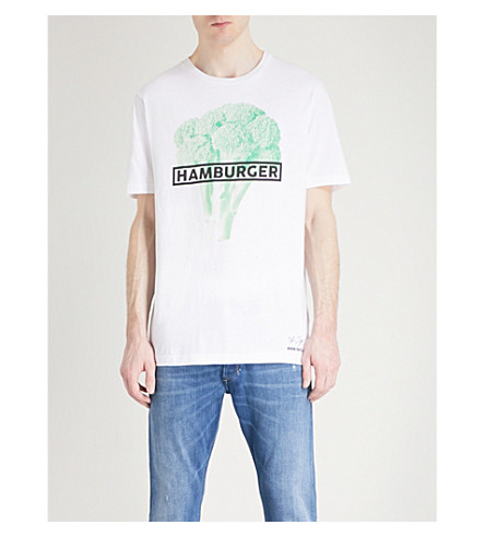 DIESEL T-just-so cotton-jersey T-shirt (Bright+white