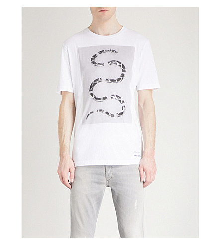 DIESEL T-just-sp cotton-jersey T-shirt (Bright+white