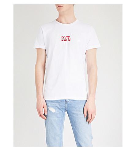 DIESEL Tdiegosx cotton-jersey T-shirt (Bright+white