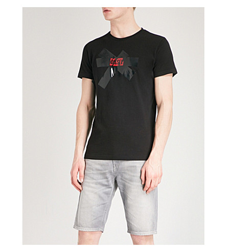 DIESEL Tdiegosx cotton-jersey T-shirt (Black