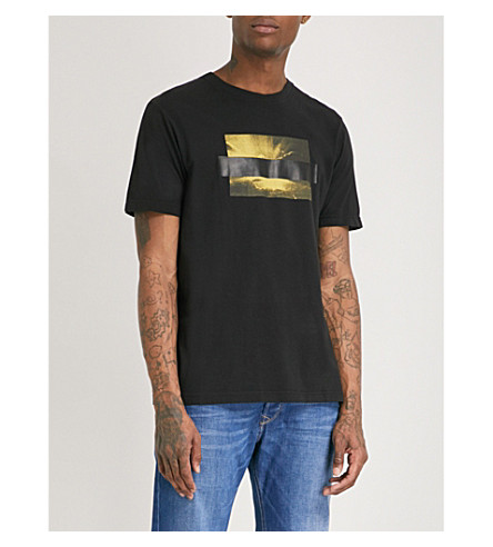 DIESEL T-Just-SN printed cotton-jersey T-shirt (Black
