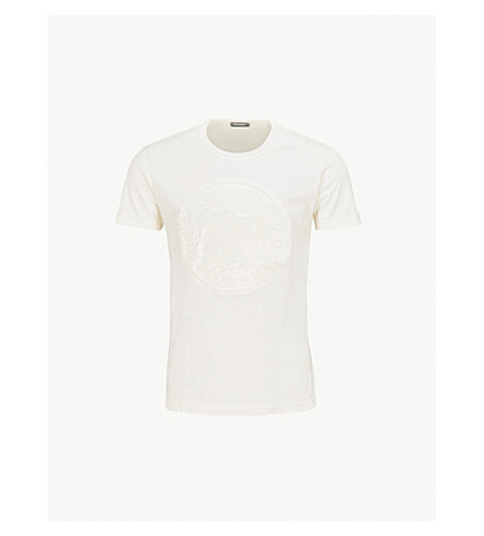 DIESEL Tdiegosk 平纹针织棉 T 恤 (Vapourous + 灰色