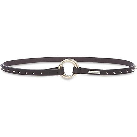 DIESEL Tribute leather belt (Black
