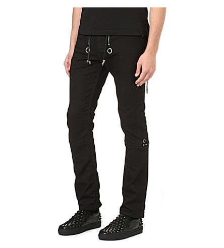 DIESEL Tribute slim-fit sweat jeans (Black