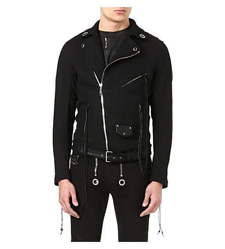 DIESEL Tribute denim biker jacket (Black