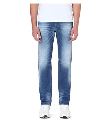 diesel buster slim fit tapered stretch denim jeans. Black Bedroom Furniture Sets. Home Design Ideas