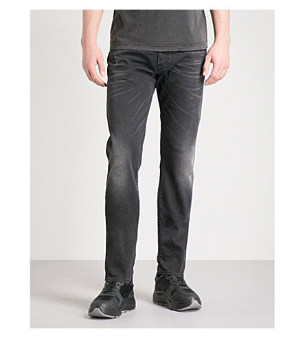 DIESEL Buster regular-fit tapered jeans (Grey+black