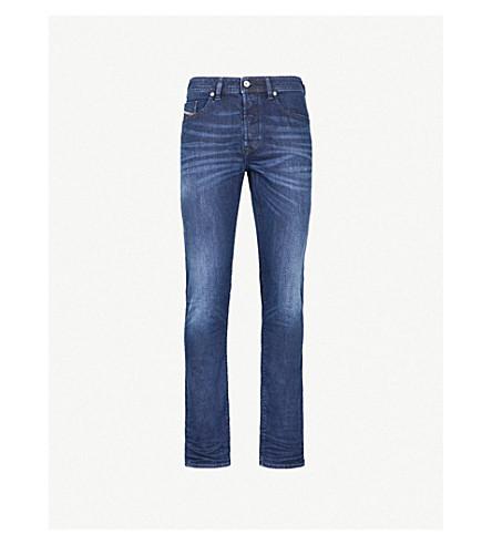 DIESEL 克星修身版型锥形牛仔裤 (靛蓝