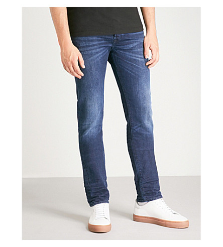 DIESEL Buster slim-fit tapered jeans (Indigo