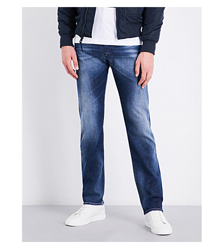 DIESEL Buster slim-fit tapered jeans (Medium+wash+blue