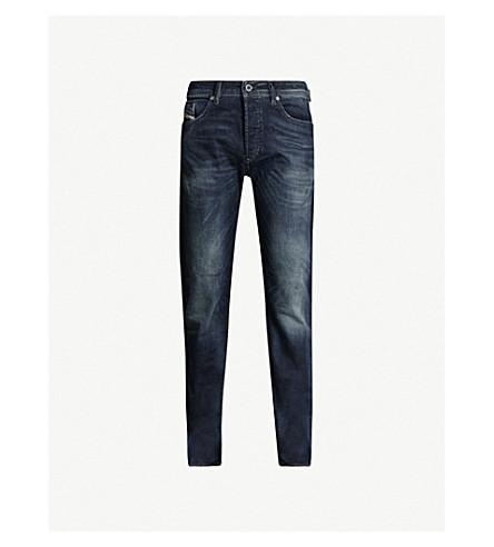 DIESEL Regular slim-fit tapered stretch-denim jeans (Light blue