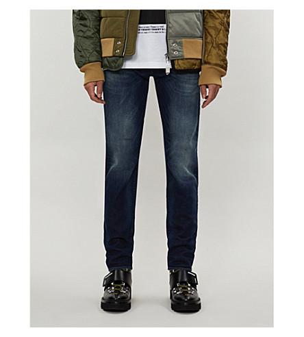 DIESEL Regular slim-fit tapered stretch-denim jeans (Light+blue