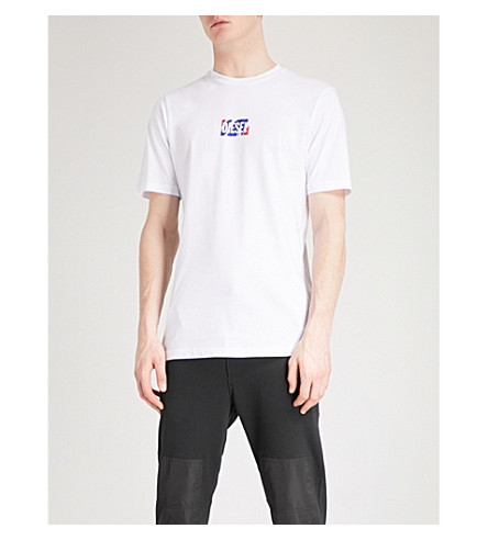 DIESEL Logo-print cotton-jersey T-shirt (Bright+white