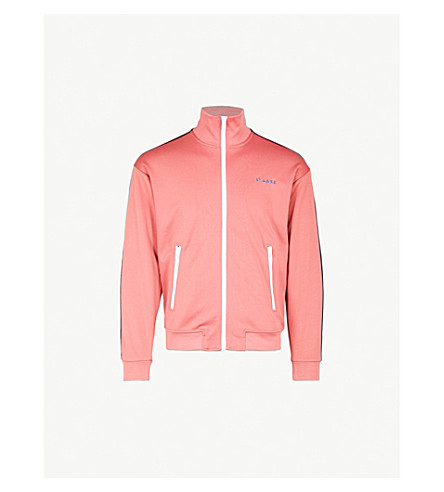 DIESEL Svetty contrast-trim jersey sweatshirt (Slate+rose