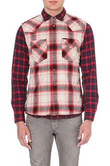 DIESEL S-Tor plaid cotton shirt
