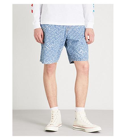 DIESEL D-Willoh logo-jacquard denim shorts (Indigo
