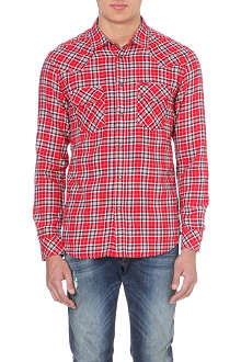 DIESEL S-Obba checked cotton shirt