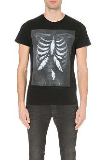 DIESEL Printed cotton t-shirt