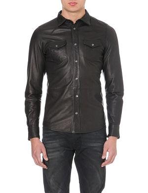 DIESEL Sonora leather shirt