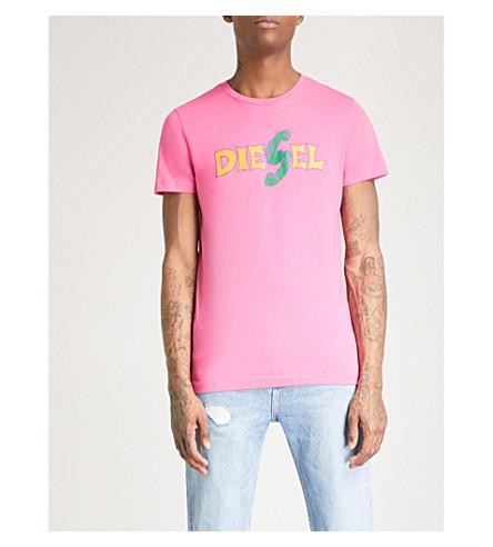 DIESEL T-diegoza cotton-jersey T-shirt (Azalea+pink