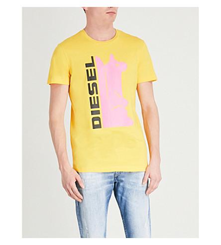 DIESEL T-diegozb cotton-jersey T-shirt (Dandelion