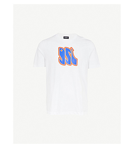 DIESEL T-justza cotton-jersey T-shirt (Bright+white