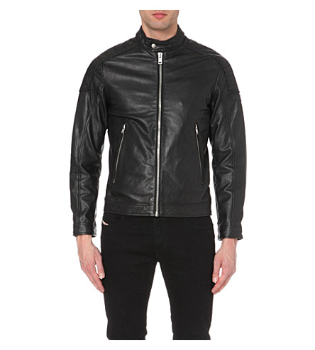DIESEL Monike leather jacket (Black