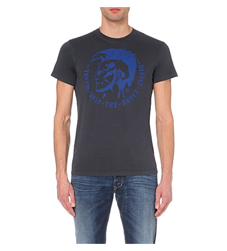 DIESEL Ulysse cotton-jersey t-shirt (Blue