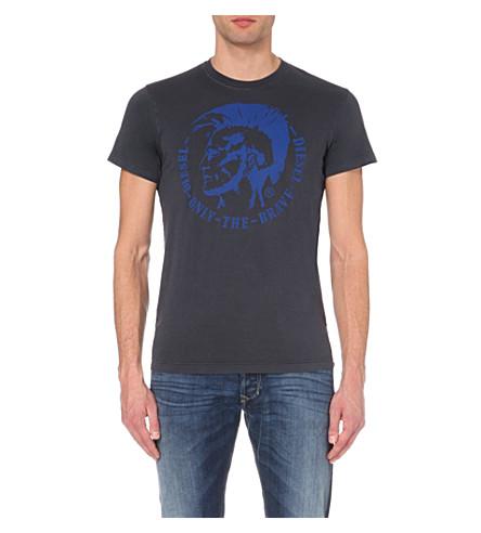 DIESEL Ulysse cotton-jersey t-shirt (Blue