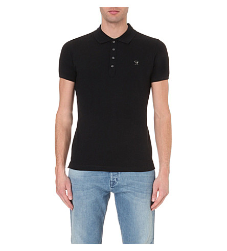 DIESEL T-yahei stretch-cotton polo shirt (Black