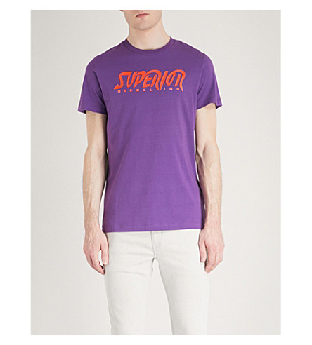 DIESEL T-diegobb cotton-jersey T-shirt (Violet