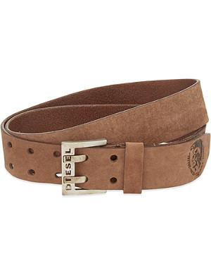 DIESEL Bit logo buckle leather belt