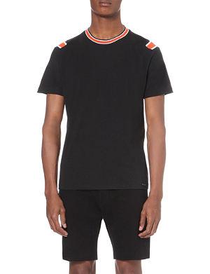 DIESEL T-Yu striped cotton t-shirt