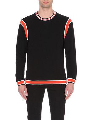 DIESEL S-roku striped cotton-jersey sweatshirt