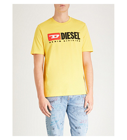 DIESEL T-Just Division embroidered logo T-shirt (Freesia