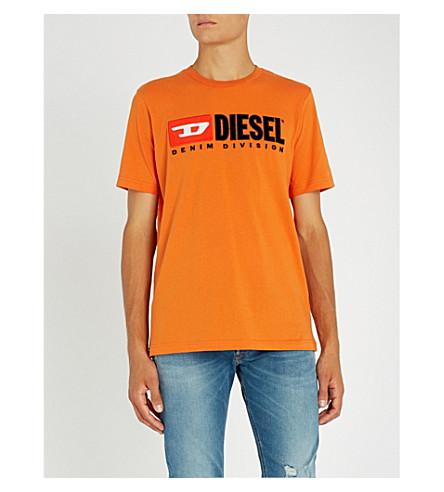 DIESEL T-Just printed cotton-jersey T-shirt (Harvest+pumpkin