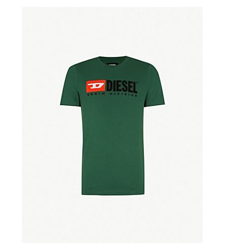 DIESEL T-Just printed cotton-jersey T-shirt (Dark+green