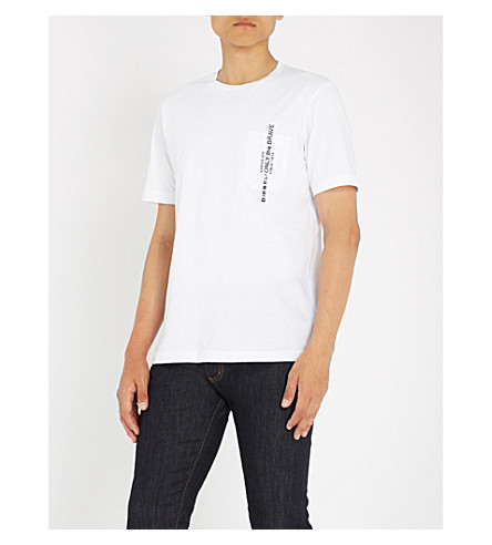 de Just T blanco algodón camiseta brillante DIESEL tATp4q5tx