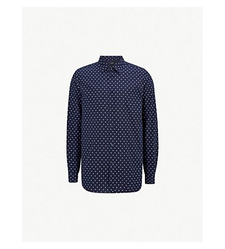 DIESEL s-民俗常规版型棉衬衫 (Peacoat + 蓝