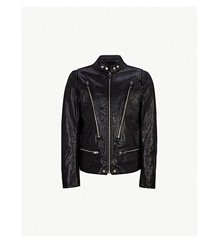 DIESEL L-Hardstyle leather jacket (Black