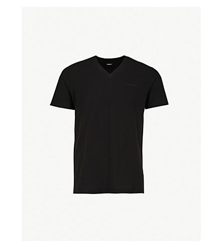 DIESEL T-ranis 平纹针织棉 T 恤 (黑色