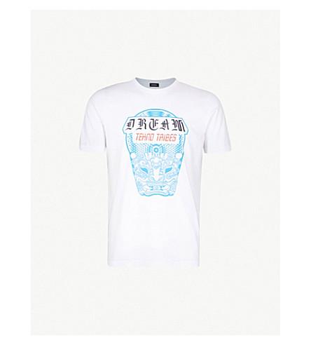 DIESEL T-Just-WN cotton T-shirt (Bright+white