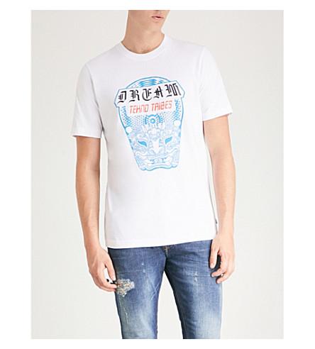 DIESEL 棉 T 恤 (亮 + 白)