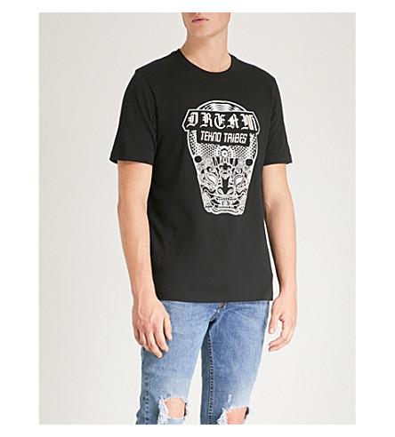 DIESEL 平纹针织棉 T 恤 (黑色
