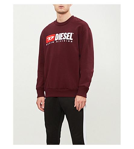 DIESEL S-Crew-Division cotton-jersey sweatshirt (Sassafras