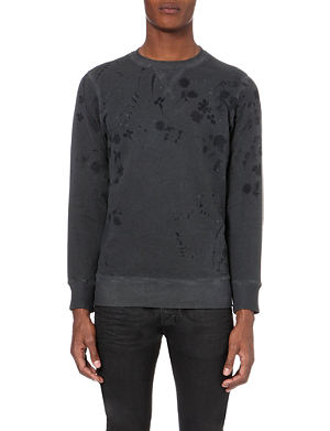 DIESEL S-crix hand-painted cotton sweatshirt
