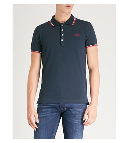 DIESEL T-Randy-Broken cotton-jersey polo shirt Total eclipse Cheap Sale Enjoy AMyW5Mmk
